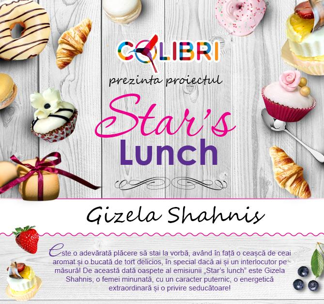 Stars's lunch: Gizela Shahnis