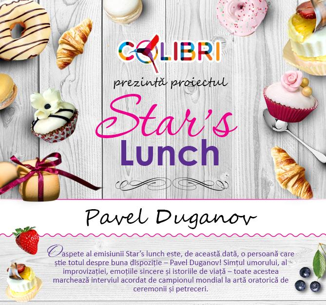 Stars's lunch: Pavel Duganov