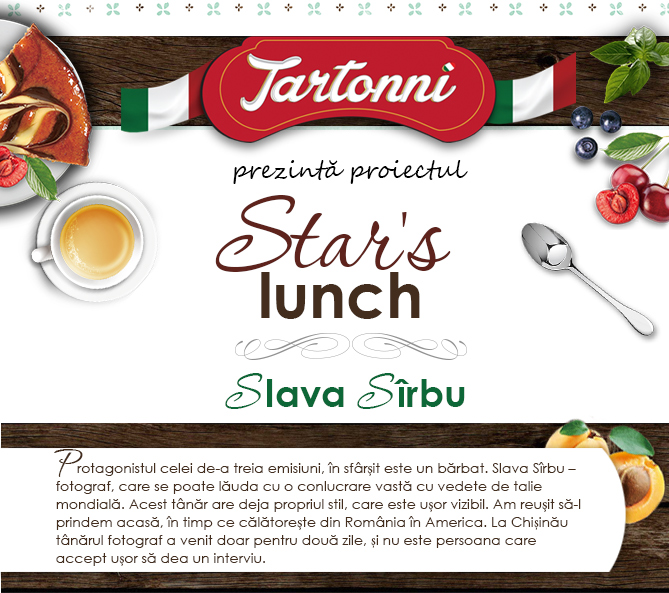 Star's lunch: Slava Sîrbu